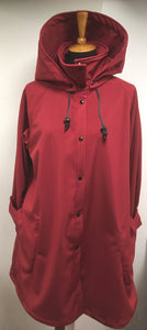 *Women's Malbec Fleece Lined Snap Raincoat (SF0919G)