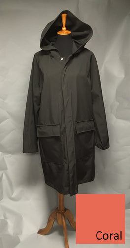 *Men's Coral Fleece Lined Snap Raincoat (SF0919A)