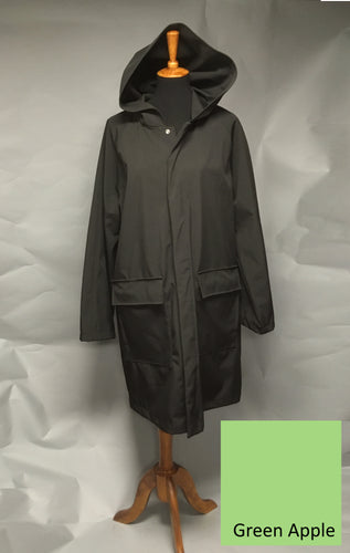 *Men's Green Apple Fleece Lined Snap Raincoat (SF0919C)