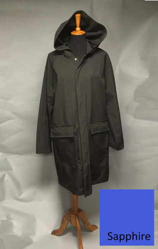 *Men's Sapphire Fleece Lined Snap Raincoat (SF0919B)
