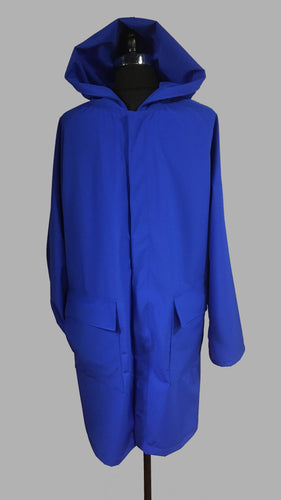 *Men's Sapphire Mesh Lined Snap Raincoat (SM0919H)