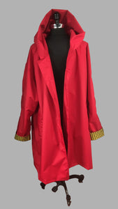 *Men's True Red Outer Lined Raincoat (LR/C 0614B)