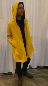 *Men's Sunflower Yellow Outer Lined Raincoat (LR/C 1016A)