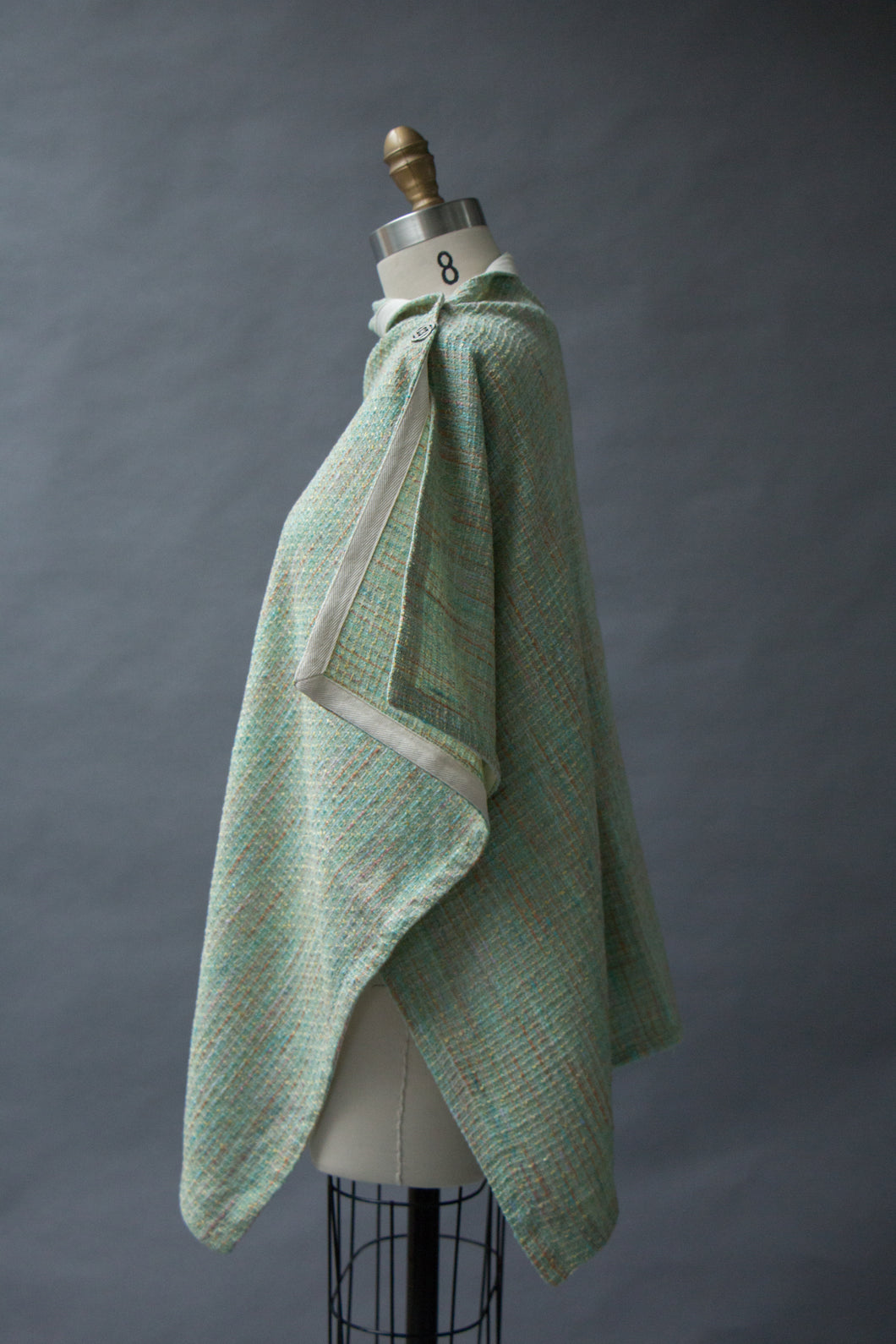 *Mint Green Handwoven Cotton Wrap  $175.00  (WR 0116J)