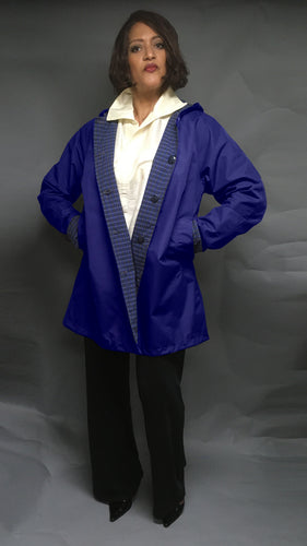 *Women's Deep Navy Outer Reversible Raincoats (RR/C 0818A)