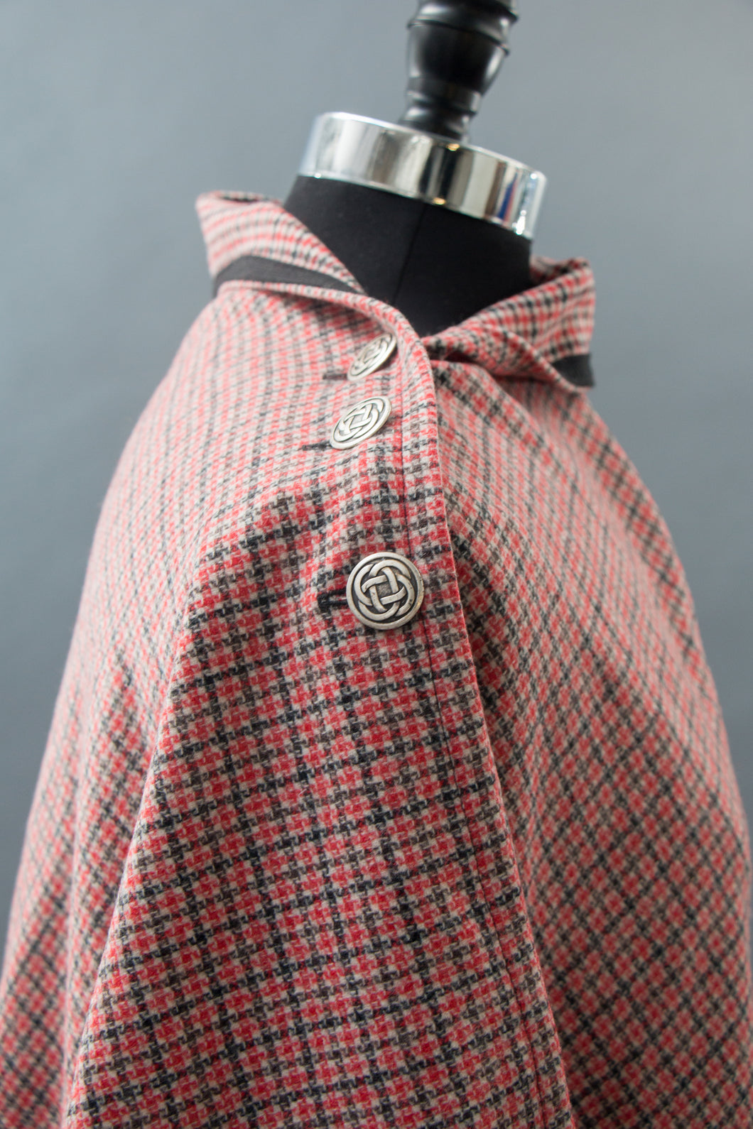 *Red & Black Plaid Wool Blend Wrap  $175.00  (WR 0116Q)