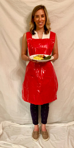*Slick Red Apron $60