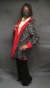 *Women's True Red Outer Reversible Raincoat (RR/C 0614B)