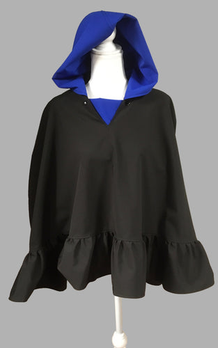 *Sapphire and Black Poncho