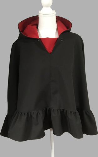 *True Red and Black Poncho