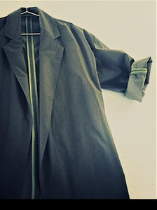 0010 Coat Light - Charcoal Scarab Organic Cotton