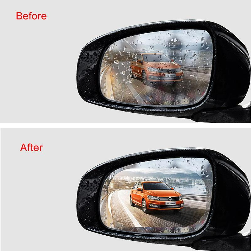 2PCS/Set Anti Fog Car Mirror Window Clear Film Anti rain Car Rearview Mirror Protective Film Waterproof Rainproof Car Sticker