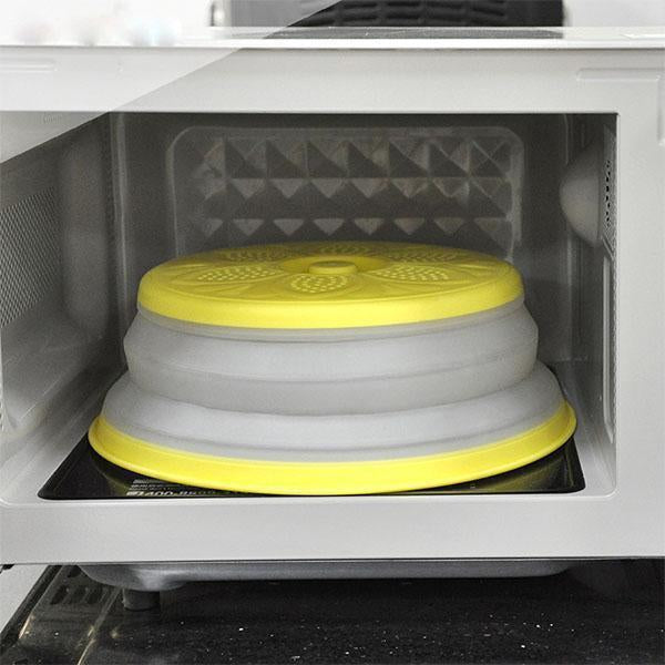 Collapsible Microwave Plate Cover, Drain Basket
