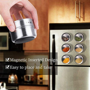 Magnetic Stainless Steel Spice Containers-50% OFF
