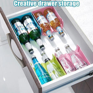 Refrigerator Beverage Cans Anti-fall Stackable Storage Rack