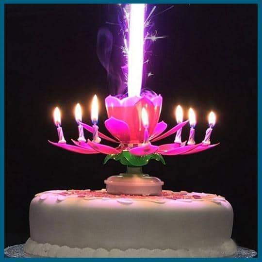 ROTATING LOTUS SURPRISE CANDLE