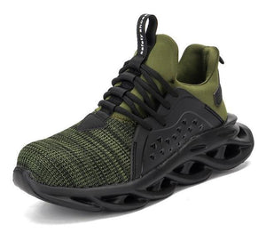 Puncture-proof, smash-resistant waterproof safety shoes