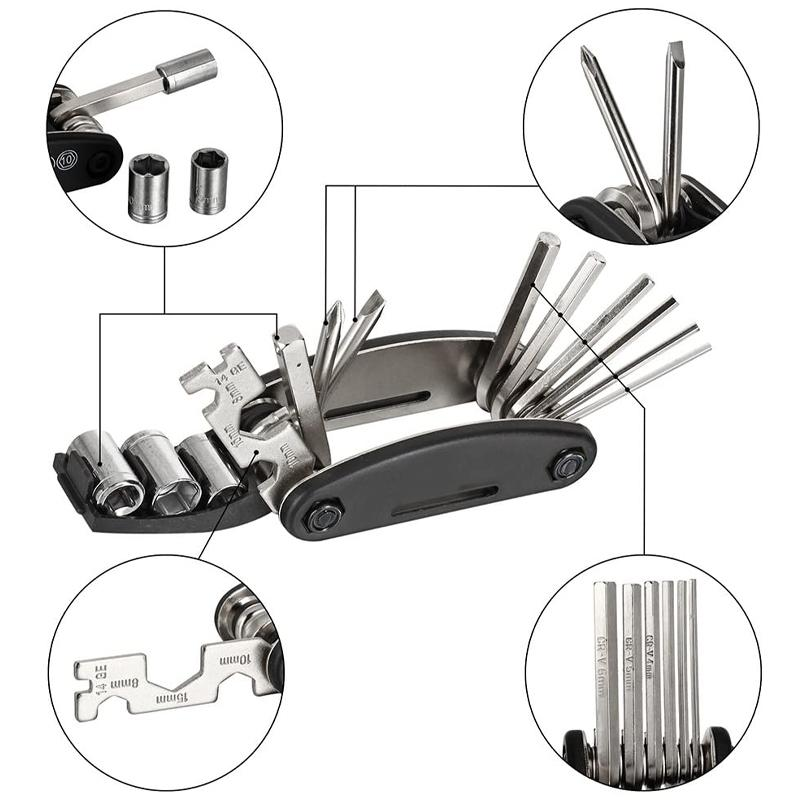 16 in 1 Bicycle Mechanic Repair Tool Kit