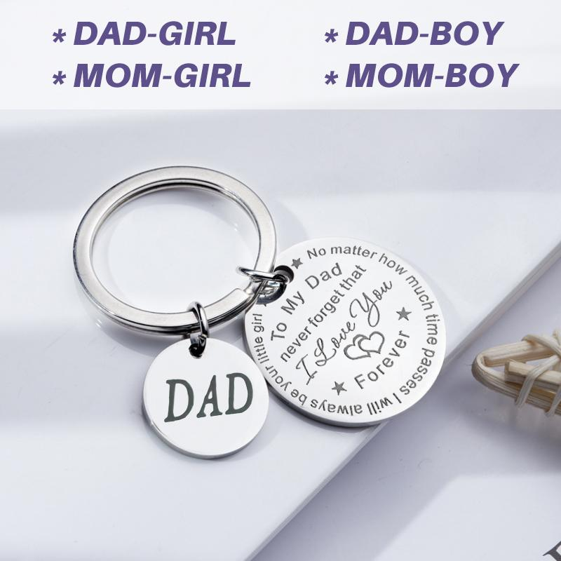 To My Dad/Mom Keychain (Dad/Mom Pendant)