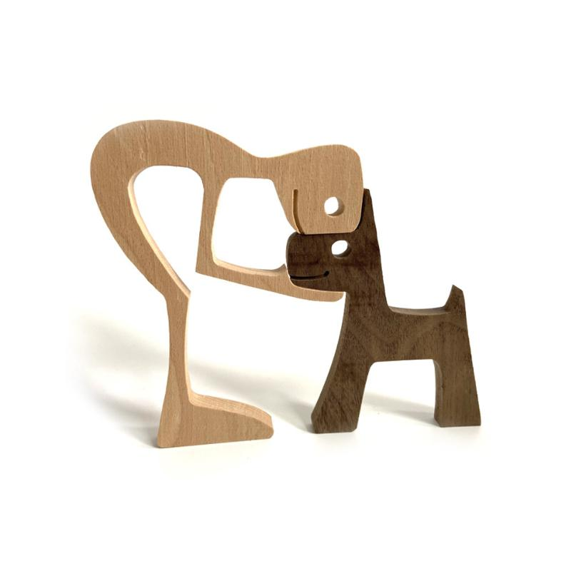 Pet Lover - Wood Sculpture Table Ornaments