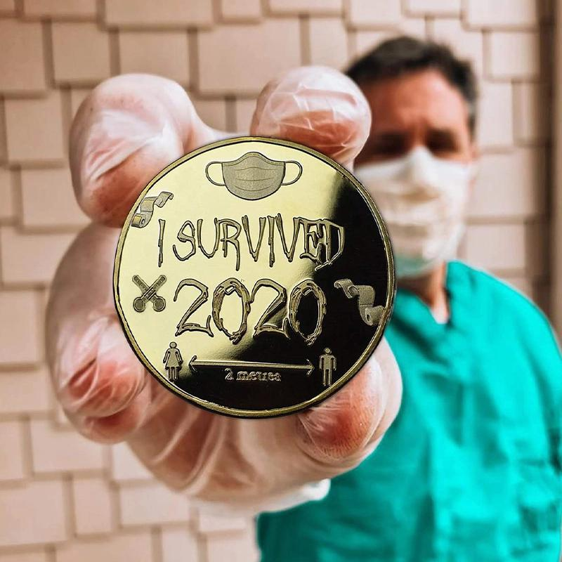 'I SURVIVED 2020'  commemorative coin