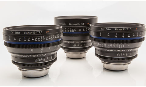 Zeiss Compact Primes CP.2 Super Speeds (35, 50, 85mm)