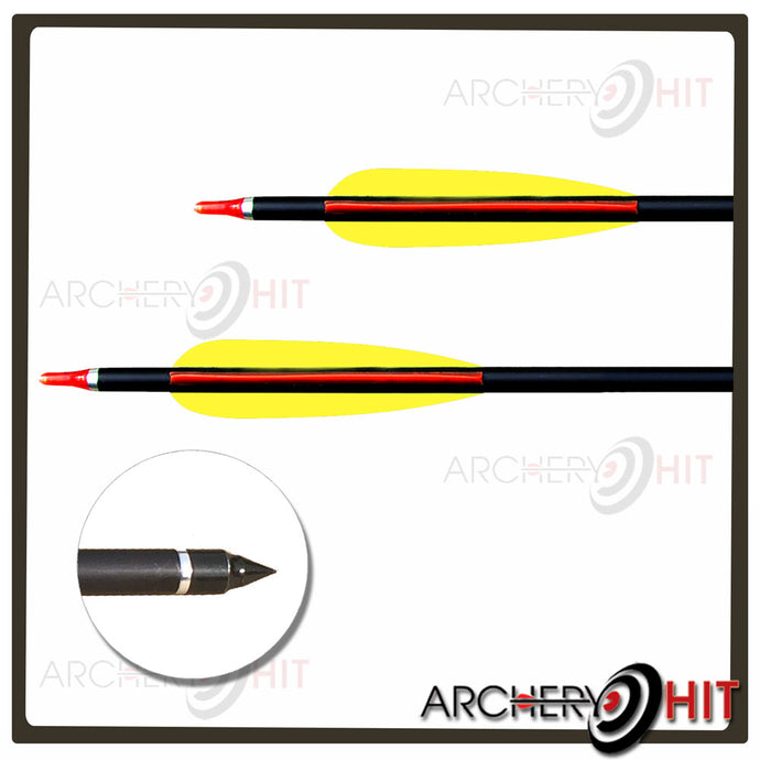 Alloy Arrows with field tips and turning nocks for Archery Hit