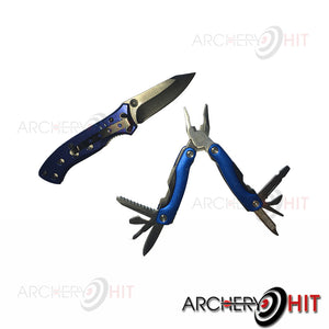 Knife and Multi tool open and out of box from Archery Hit