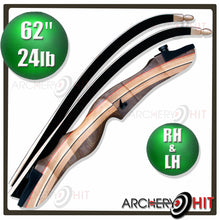Load image into Gallery viewer, 62 inch Wooden Recurve Bow in Right and Left hand
