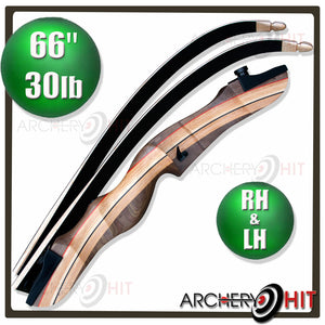 66 inch wooden take-down recurve bow in left and right handed from Archery Hit