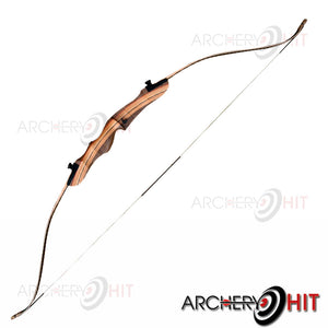 Wooden Take-Down Recurve Bow strung from Archery Hit