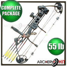 Load image into Gallery viewer, Vulture Compound Bow Black Vulture 35-55lb RTS Package from Archery Hit
