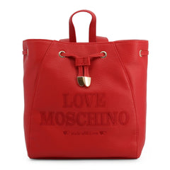 Love Moschino Embroidered Drawstring Backpack Bags Rucksacks Love Moschino red NOSIZE
