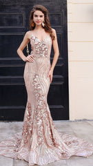 Gold Evening Gown Sequin Women - Apparel - Dresses - Cocktail Evelyn Belluci