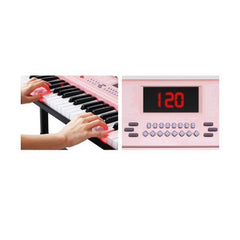 61 Key Lighted Electronic Piano Keyboard Led Electric Music Stand Bars and Loops