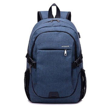 High Density and Water Repellent Multi Layer Compartment Computer Backpack - Bars and Loops