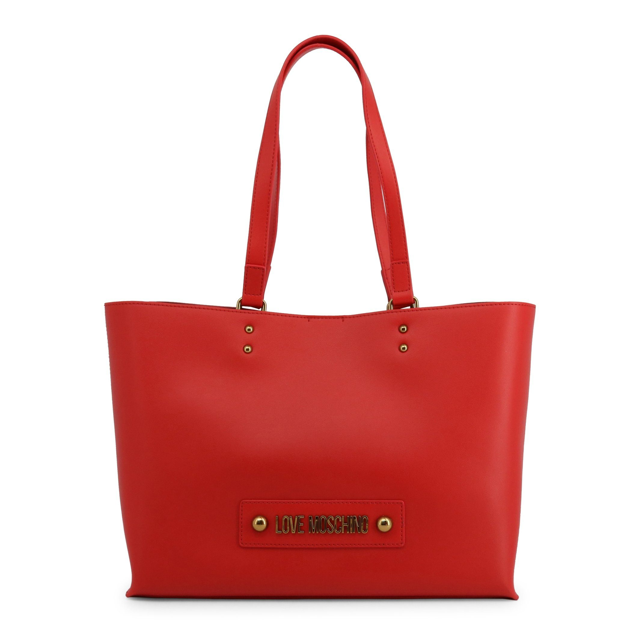 Love Moschino Double Handle Studded Tote Bags Bags Shopping bags Love Moschino red NOSIZE