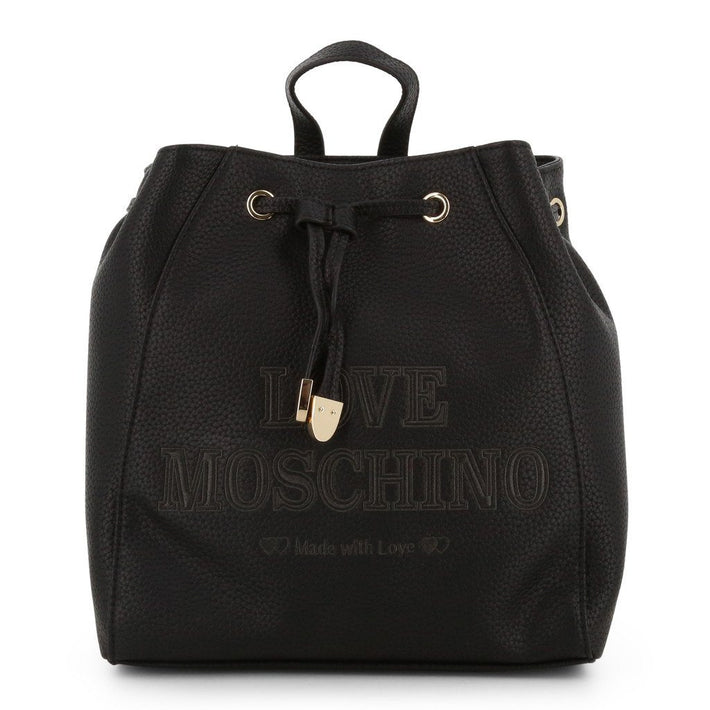 Love Moschino Embroidered Drawstring Backpack Bags Rucksacks Love Moschino black NOSIZE
