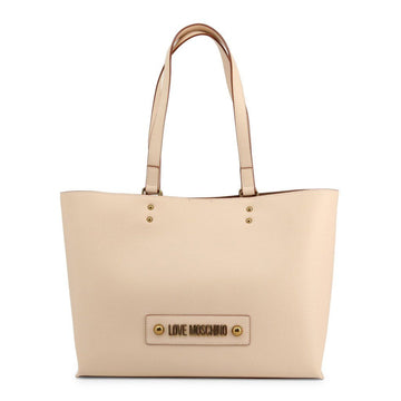 Love Moschino Double Handle Studded Tote Bags Bags Shopping bags Love Moschino brown NOSIZE