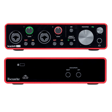 Focusrite Scarlett 2i2 Gen 3 2-in/2-out USB Audio Interface Bars and Loops