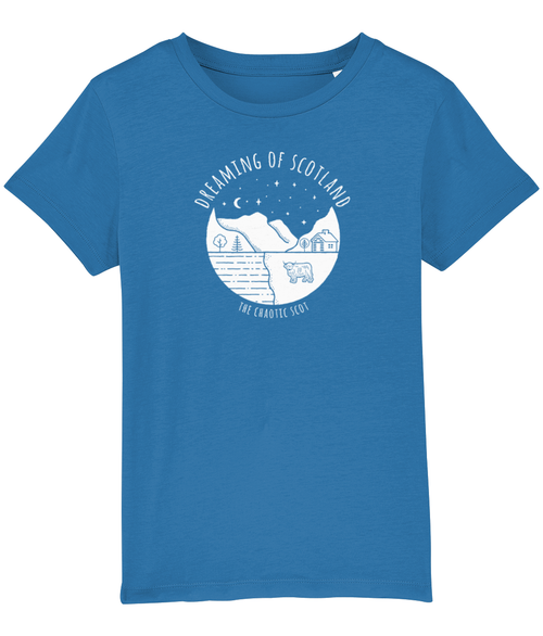 Dreaming of Scotland Kids T-Shirt in Blue