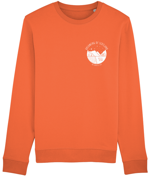 Dreaming of Scotland Long Sleeved Sweatshirt in Orange