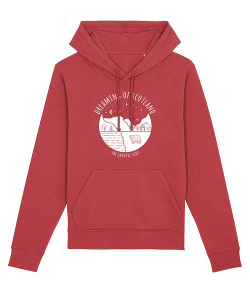 Dreaming of Scotland Unisex Hoodie in Red
