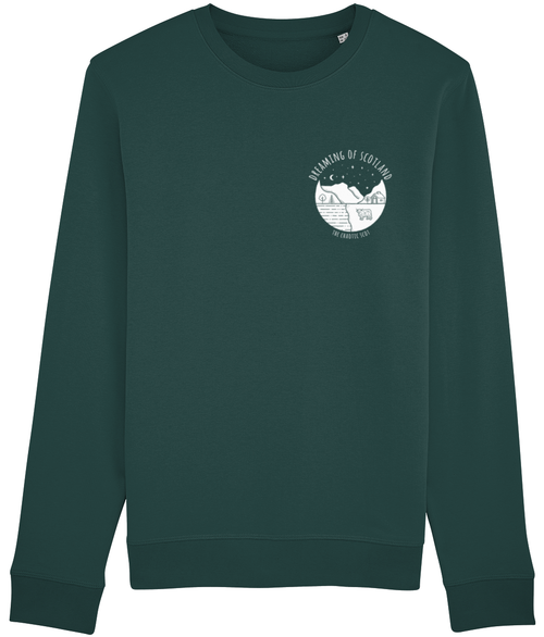 Dreaming of Scotland Long Sleeved Sweatshirt in Green
