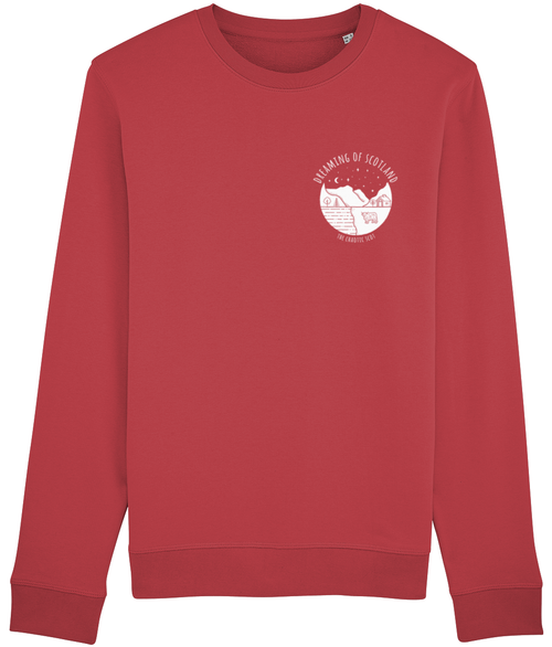 Dreaming of Scotland Long Sleeved Sweatshirt in Red