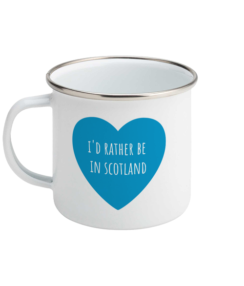 I'd Rather Be in Scotland Enamel Mug