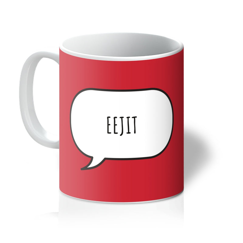 Novelty Scottish Mug Eejit - Red