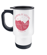 Dreaming of Scotland Travel Mug in Pink