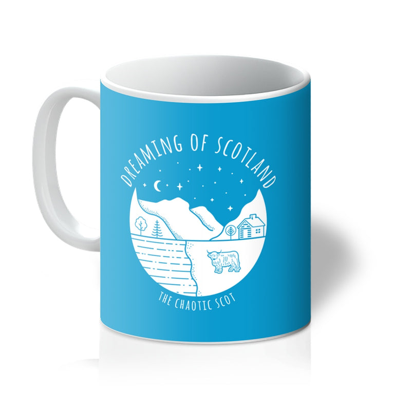 Dreaming of Scotland Mug in Blue