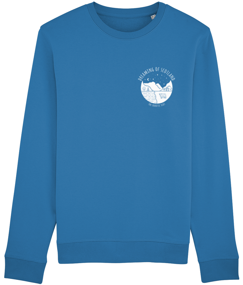 Dreaming of Scotland Long Sleeved Sweatshirt in Blue